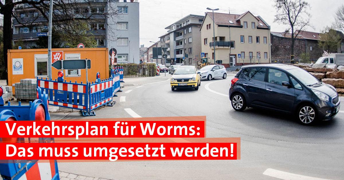 Verkehrsplan Worms Verkehr Stau Parken